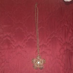 Long Beautiful flower Neckalace